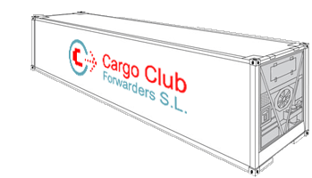 40 Reefer high cube Cargo Club Forwarders