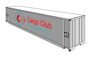 High cube dry container Cargo Club Forwarders