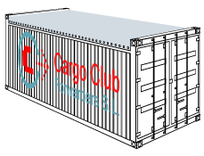 Open top container Cargo Club Forwarders